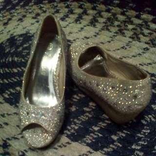 Open Toe Wedge Shoes Kids
