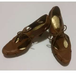 (Reduced) Sam Edelman Mary Jane Brown Leather Shoe size 7.5