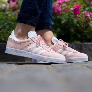 Adidas gazelle Suede Sneakers In Salmon Pink
