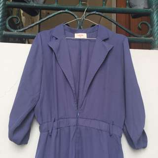 gaudi light purple with top parka and semi jumpsuit