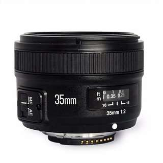 Yongnuo YN35mm f2 35mm Prime Lens for Canon EF