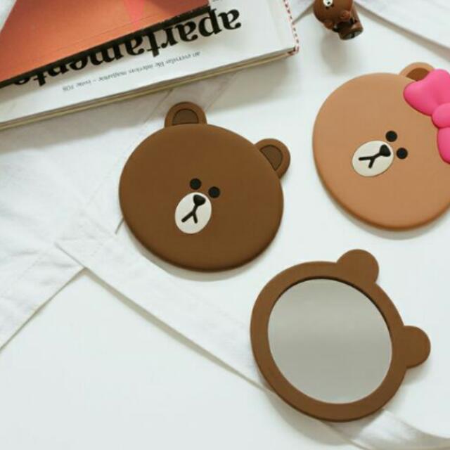 現貨 CHOCO 熊大 兔兔  隨身小鏡子 化妝鏡 小萌物 必備小物 可愛鏡子 小鏡子