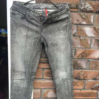 Guess Power Skinny Washed Jeans