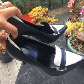 Charles And Keith Black And White Shoes