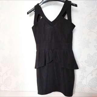 Bodycon Black Dress Hitam
