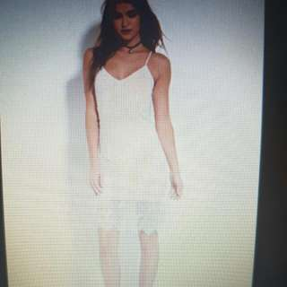 BNWT Eyelash White Lace Cami Dress