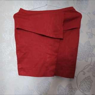 Rok Merah Bodycon