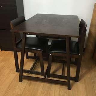 二手實木餐桌組