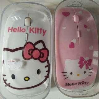Mouse Wireless Hello Kitty Laptop Komputer