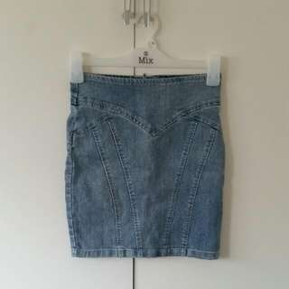 Size 6 Sportsgirl Denim Mini Skirt