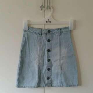 Size 6 Cotton On Denim A-line Skirt