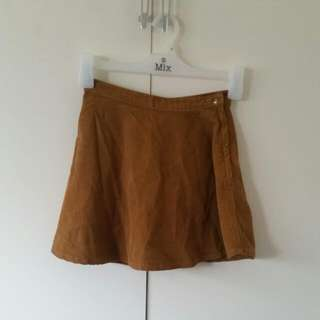 XS American Apparel Corderoy Mini Skirt