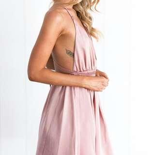 Golden Sky Dress (Blush) Size 6