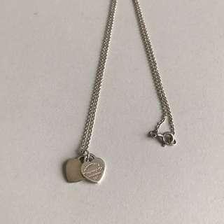 925純銀雙愛心項鍊