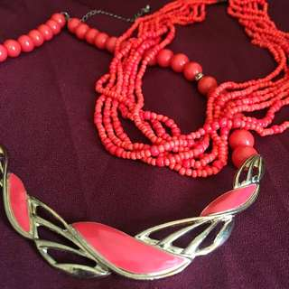 Coral Pink Necklaces