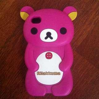 iPhone 4/4S - Pink Rilakkuma Silicone Phone Case