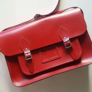 The Cambridge Satchel Company Classic Satchel Red 14inch