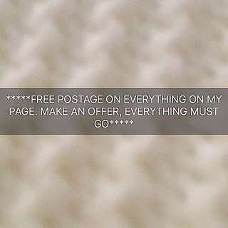 Everything Must Go. Make An Offer. Free Postage.