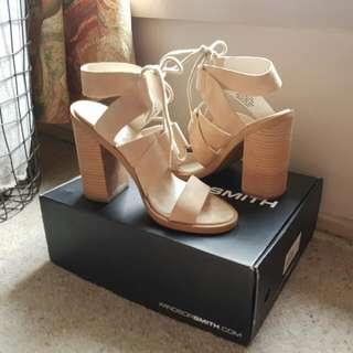 Windsor Smith Tyra Heels Sand Suede Size 6