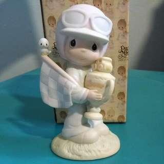 Buy 3 Get 1 Free : Precious Moments Boy Figurine : Trust in The Lord To The Finish