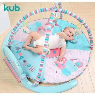 0-1歲寶寶最愛KUB腳踏七彩鋼琴健立架