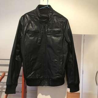 Stucy Size M Black Leather Jacket