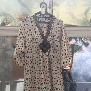 Dress Polkadot Plus Sized