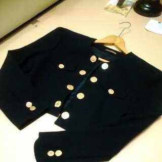 Bluebell深藍色西裝外套 #三百元外套