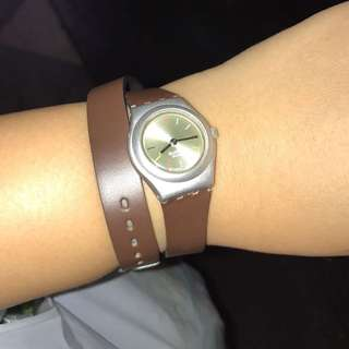 SUPER SALE: Swatch Watch (leather Strap)