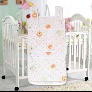 Bb床掛袋 尿片收納 可收納尿片,玩具 掛係bb床 34x50cm 包郵