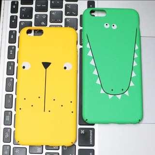 🦁(現貨)卡通獅子鱷魚全包手機殼硬殼i6/i6s🦁