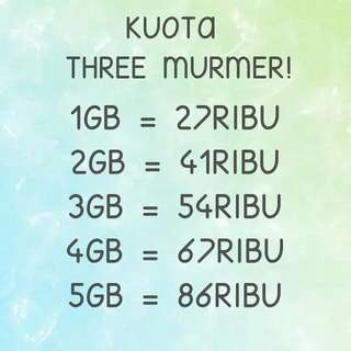KUOTA THREE MURAH