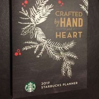 Sealed 2017 Starbucks Planner