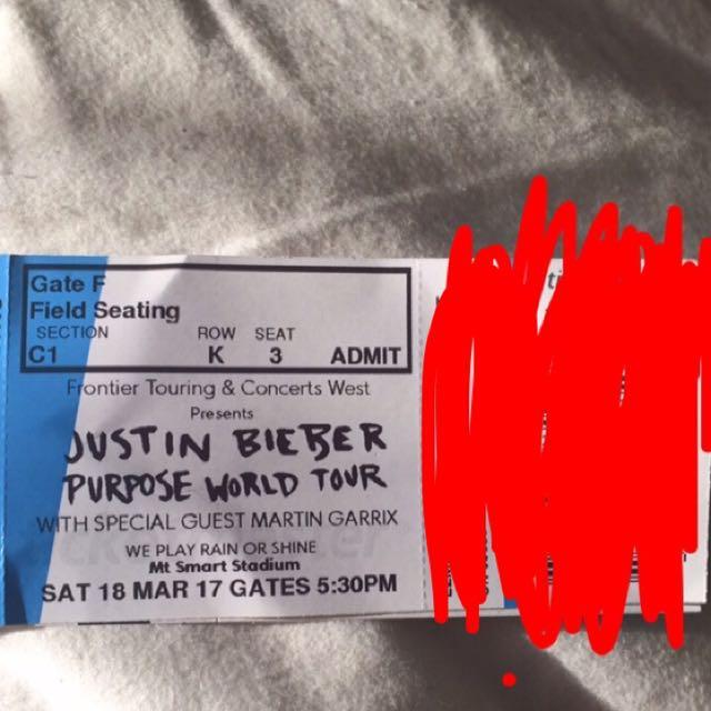1x Justin Bieber Ticket