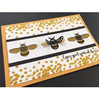 Handmade Bees Birthday Card