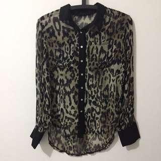 Sheer Leopard Shirt