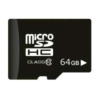 64GB Micro SDHC Class 10