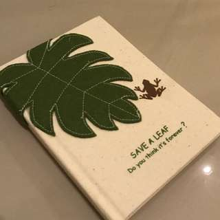 Save A Leaf Blank Recycled Notebook