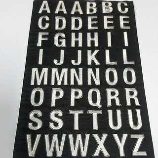 Iron On Patch/ Applique   ↪ Alphabet A to Z ↔ White Bold Series 💱 $0.80 Each Piece