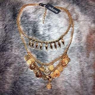 Gold Adorne Gypsy Coin Necklace BNWT