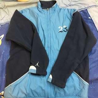 Jordan 藍色雙面穿刷毛外套 M