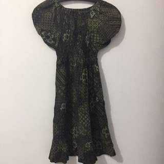 Dress Batik Anak Cewe Tanggung