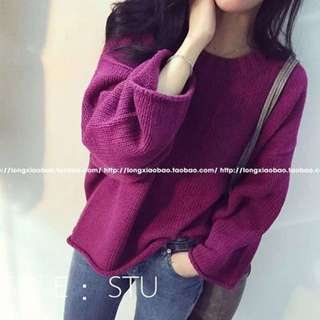 Knit Big Sleeve Sweater