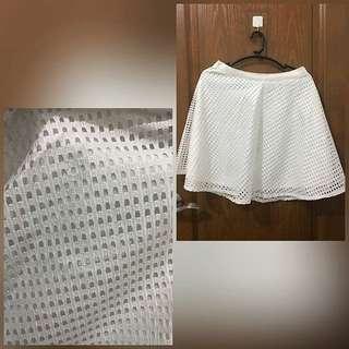 White Skirt - Skater Skirt