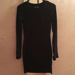 Kookai Fitted Long Sleeve Midi Dress