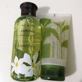 Innisfree Body Cleanser + Scrub Set