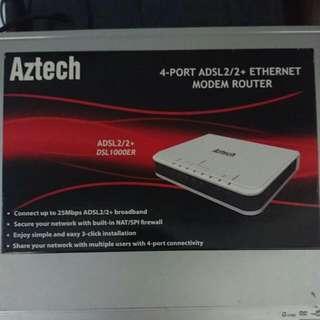 Aztech DSL1000ER modem router