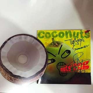 (全新)椰子樂團(季欣霈+韓立康)Nuts' Thing is Big  單曲,親筆簽名