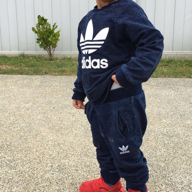 2-3yr Denim Authentic adidas tracksuit
