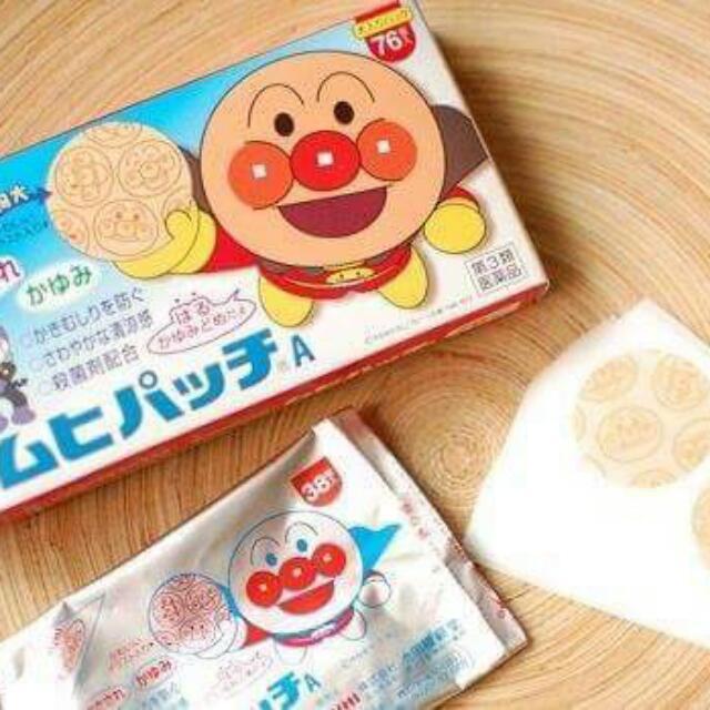 現貨日本麵包超人止癢貼片76枚入